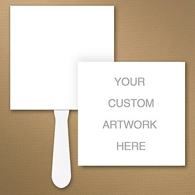 Custom Square Wedding Program Fan/Personalized Sign Stationery Day Of