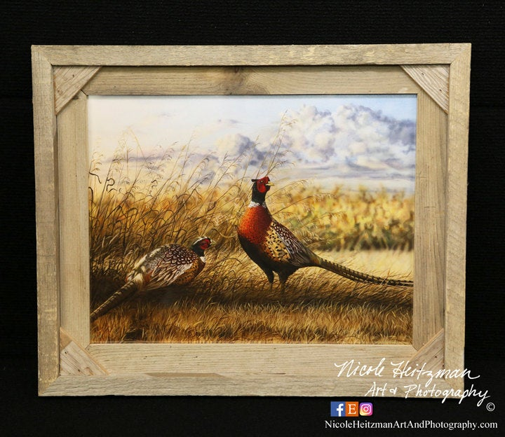 Pheasant Painting Christmas Gift For Dad Ring-Necked Art Father's Day Men Hunter Pheasant Print By Nicole Heitzman
