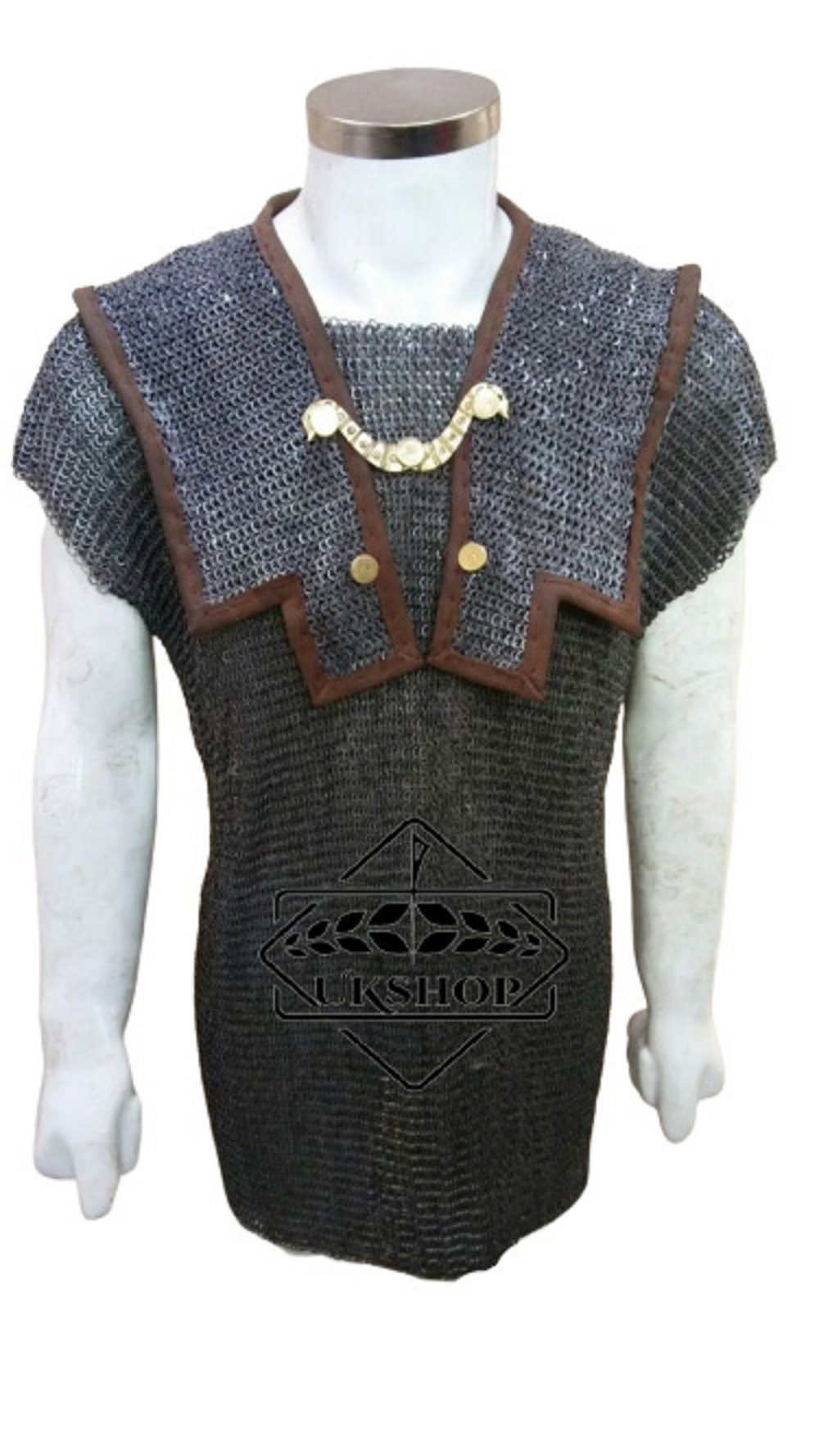 Roman Lorica Hamata 6 Mm Flat Riveted With Soiled Ring Chainmail Sca Larp, Dad Gift