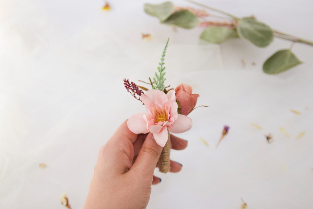 Dusty Pink Boutonniere, Blush Wedding Accessories, Rustic Flower Wedding Boutonniere