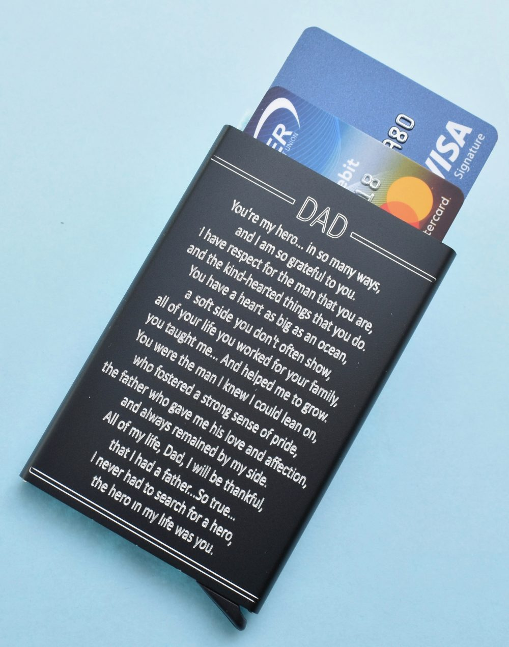 Gift For Dad. Christmas Gift Dad. Father's Day Rfid Credit Card Holder