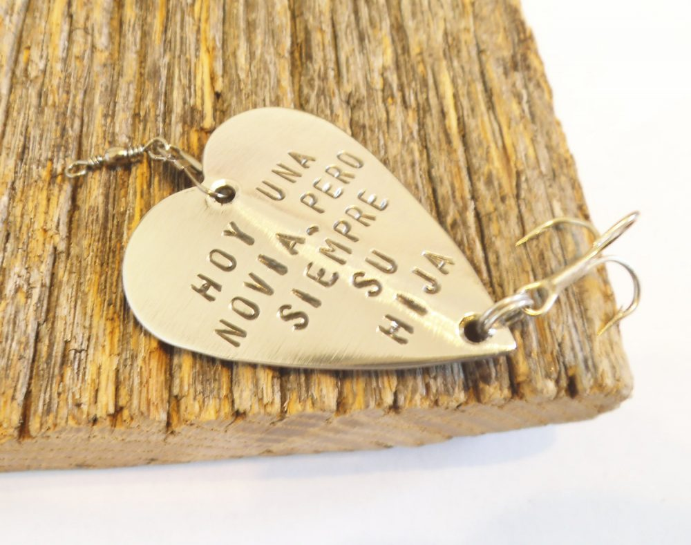 Personalized Wedding Gift Dad Father Of The Bride Hoy Una Novia Pero Siempre Su Hija Spanish Fishing Lure Today A Always Your Daughter