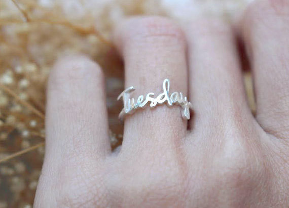 stackable Name Ring - Personalized Children Bridesmaid Gift Mother Gift- Christmas