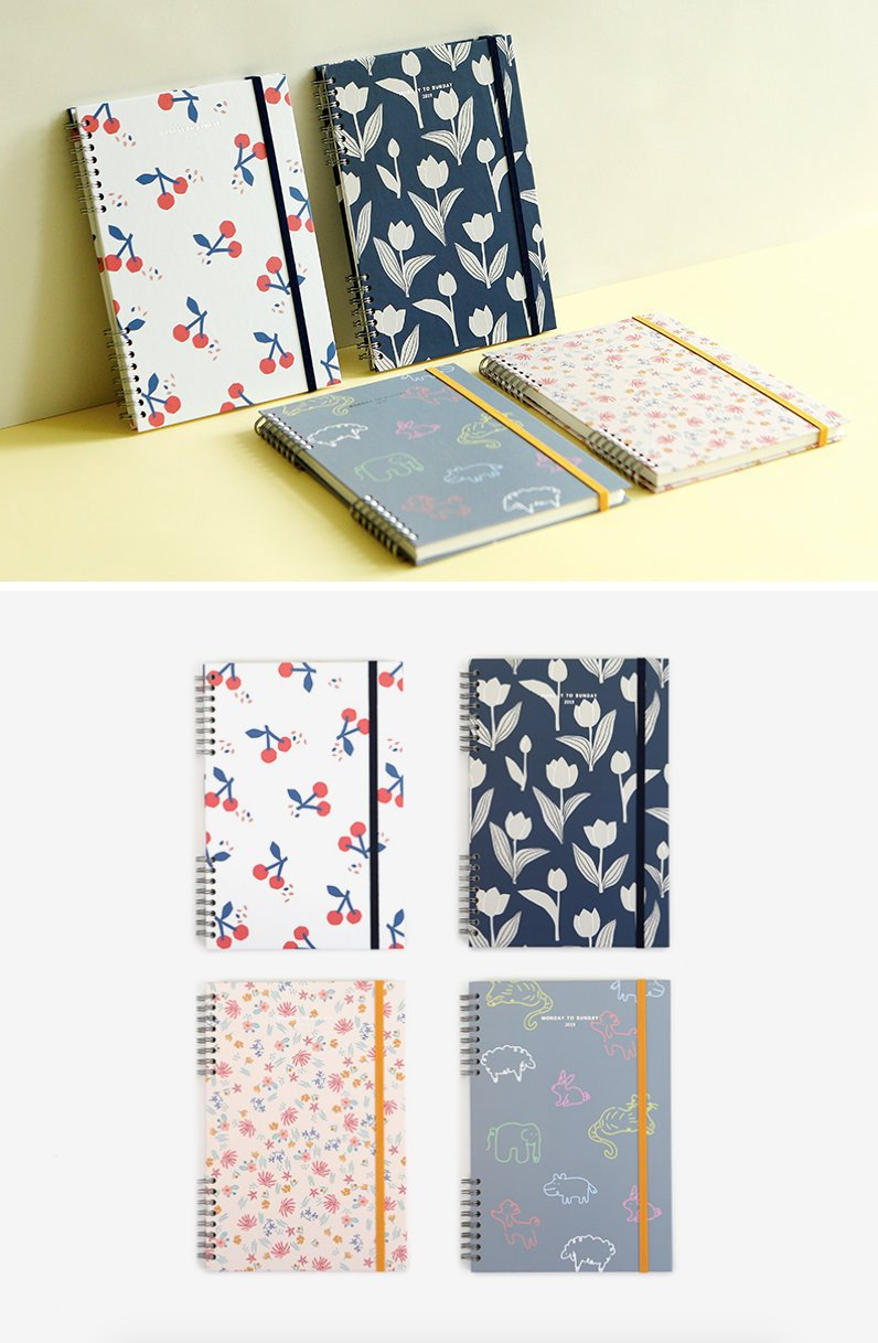 2019 Planner/Weekly Monthly Daily Yearly Agenda Bullet Journal 365 Days Hardcover