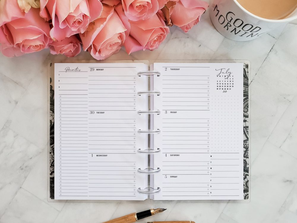 Weekly Monthly 2020 2021 Discbound Planner Inserts Refill Pages | No. 16
