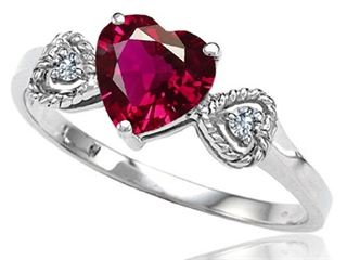 Tommaso Design™ Created Ruby Heart Shape Engagement Promise Ring