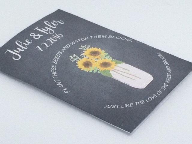 Sunflower Wedding Favors, Sunflowers Vase Chalkboard Wedding Sunflower Favors, Favors