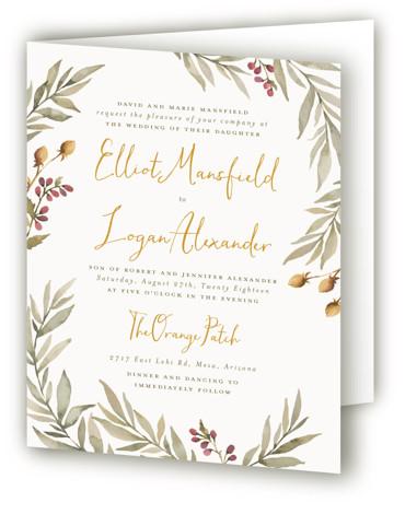 Summer Love Four-Panel Wedding Invitations