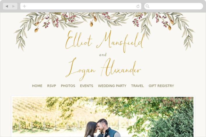 Summer Love Wedding Websites