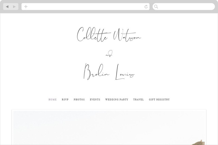 Summer Palm Wedding Websites
