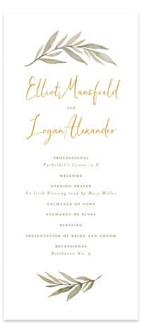 Summer Love Wedding Programs