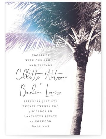 Summer Palm Wedding Invitations