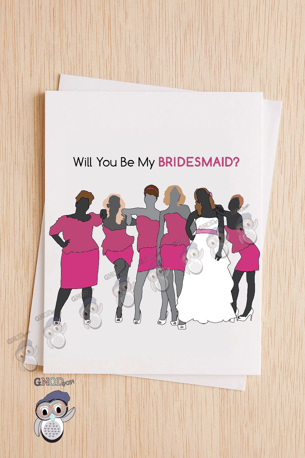 Funny Bridesmaid Card, Will You Be My Bridesmaid, Wedding Card, Bridesmaid Proposal Maid Of Honor Card - 88A