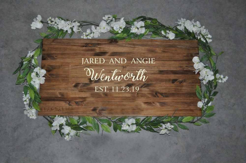 Guest Book Alternative | Wedding Decor Rustic Wood Sign Personalized For Signs