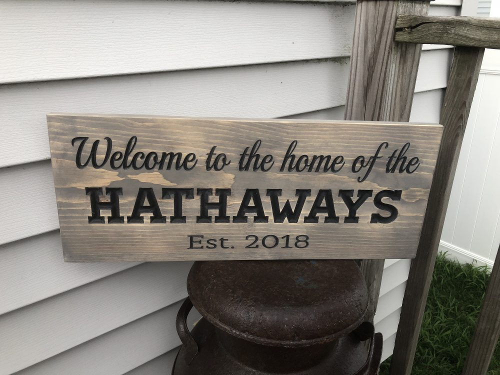 Welcome Sign, Sign For Front Porch, Established Family Housewarming Gift, Wedding Gift, Rustic Wooden Sign, Realtor Gift