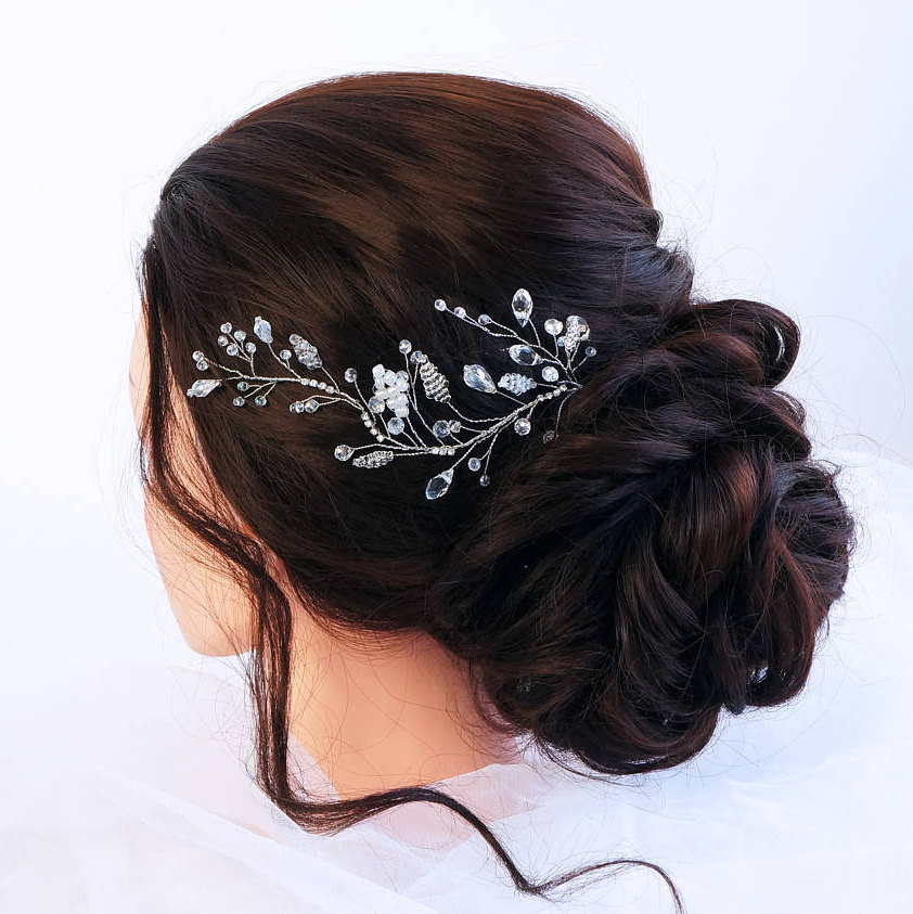 Bridal Hair Vine- Wedding Hair Vine- Crystal Vine -Pearl - Headpiece -Bohemian Bridal Headpiece-Hair For Bride