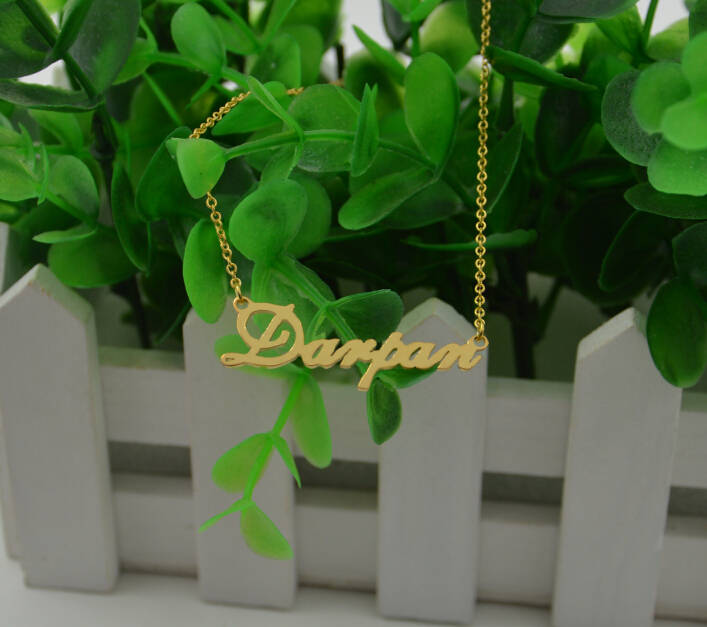 Personalized Gold Name Plate Necklace-Name Necklace-Custom Jewelry-Gifts For Everyone
