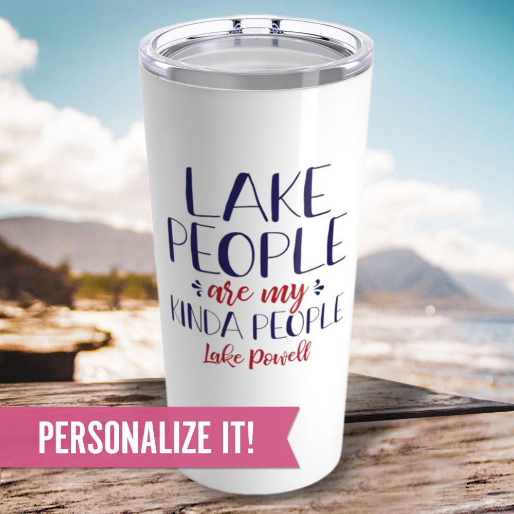Lake People Tumbler - Personalized 20 Oz Insulated Stainless Steel Gift