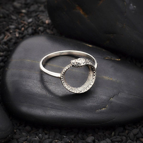 Ouroboros Charm 925 Sterling Silver Or Snake Ring Earrings