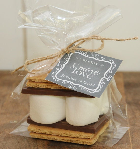 24 - S'mores Wedding Favor Kits -Chalkboard Tag Design | Smore's S'more Love