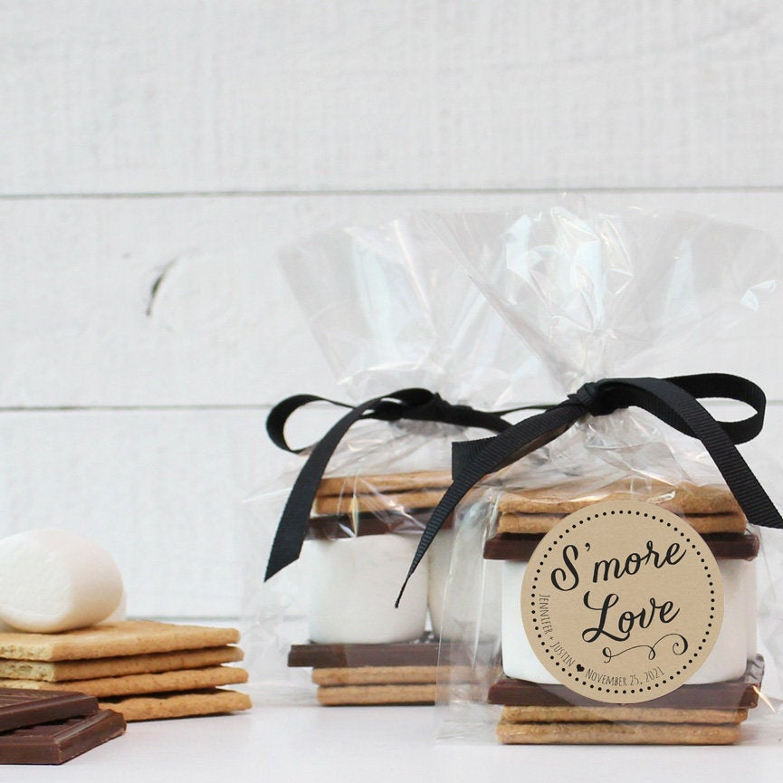 24 - S'mores Wedding Favor Kits S'more Love Label | Smore's Labels