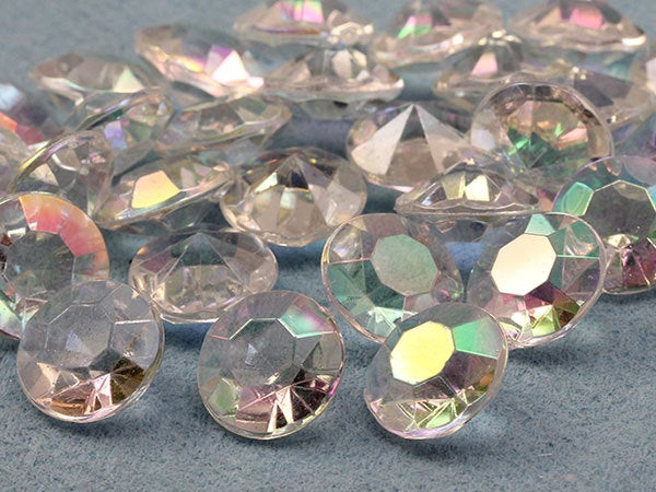 Allstarco 3000Pcs 5mm Crystal Carat Acrylic Diamond Confetti Ab Coating For Table Scatter Wedding Decorations Vase Fillers