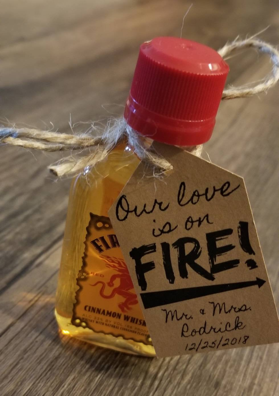 "30 ""Our Love Is On Fire"" Diy Wedding Favor Kits Wedding Favors. Favor Tags. Personalized Rustic"