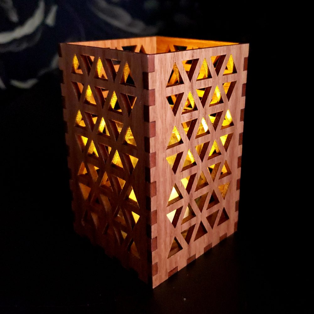 Geometric Pattern Candle Holder