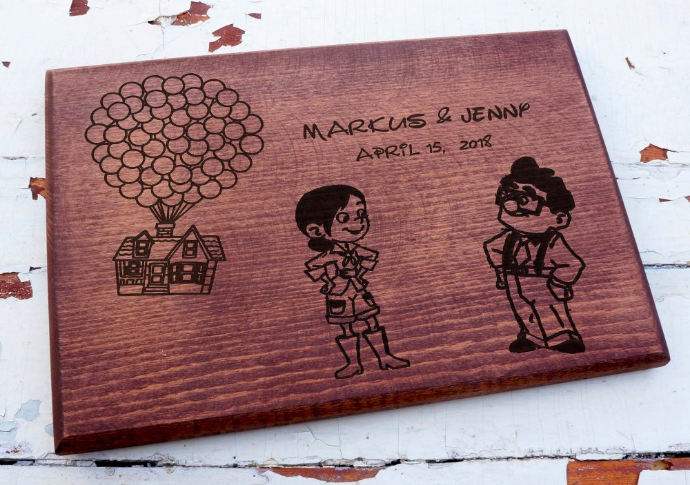 Movie Up House Cutting Board, Disney Boards, Wedding Gift, Up Gift, Disney Wedding, Cutting Board Wedding Gift