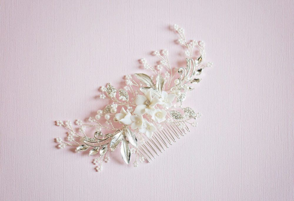 Bridal Hair Comb, Flower Flower, Floral Comb, Wedding Hair Accessory