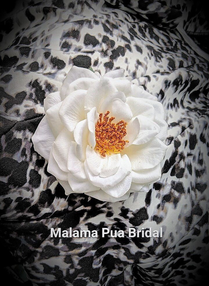Real Touch Rose Hair Clip, Accessory, Bridal Custom Wedding Flower, Hawaiian, Fascinator, Hair Piece, Beach, Bridesmaid
