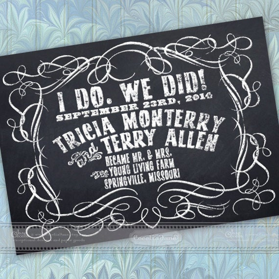 Wedding Announcement, Chalkboard Save The Date, Package, In361