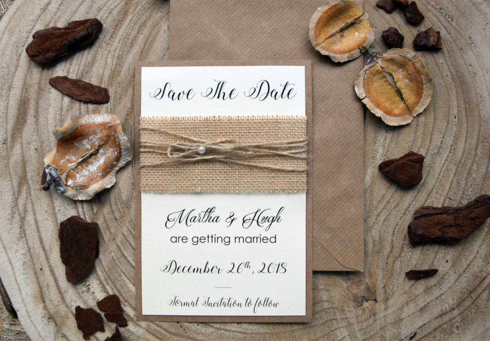 Wedding Save The Date Cards, Rustic The Dates, Custom Date, Unique Invitations