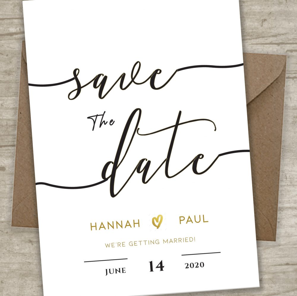 Save The Dates, Elegant Save Dates, Wedding Invitation Template, Tying Knot, Date Card, Invite Template