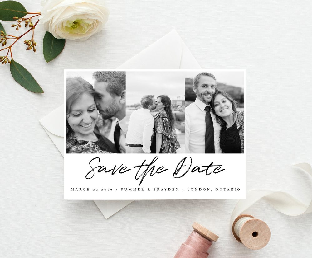 Modern Minimal Save The Date, Calendar Date Postcard, Printable Our Wedding Announcement
