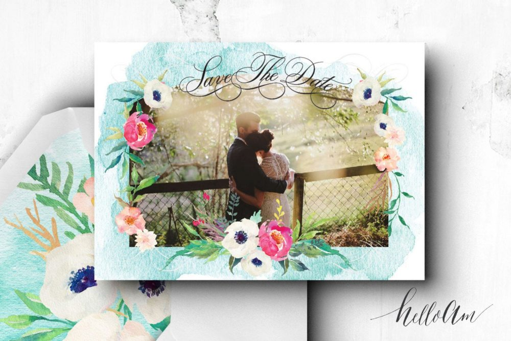 Printable Save The Date Postcard - Engagement Cards Save Date Postcard Bohemian Wedding Rustic Invitations Romantic