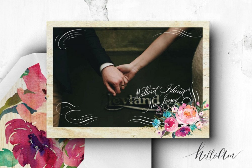 Wood Save The Date - Printable Save Date Postcard Engagement Cards Postcard Rustic Wedding Invitations Weddings
