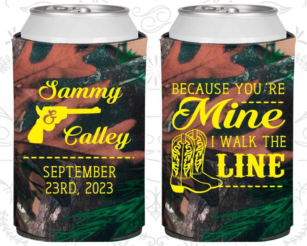 Because You Are Mine, I Walked The Line, Personalized Wedding, Country Wedding Favors, Western Cowboy Boots | 474