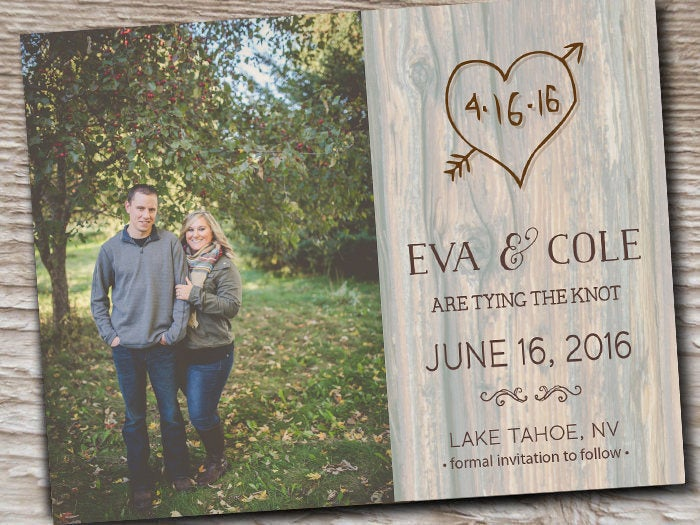 Rustic Wedding Save The Date Reception Happily Ever After The Dates Postcards Cards Lake Country Beach Burlap Mint Blue Wood