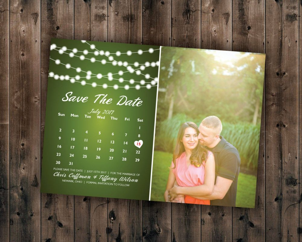 Save The Date Calendar, Postcard, Card, Photo, Affordable Dates, Invite