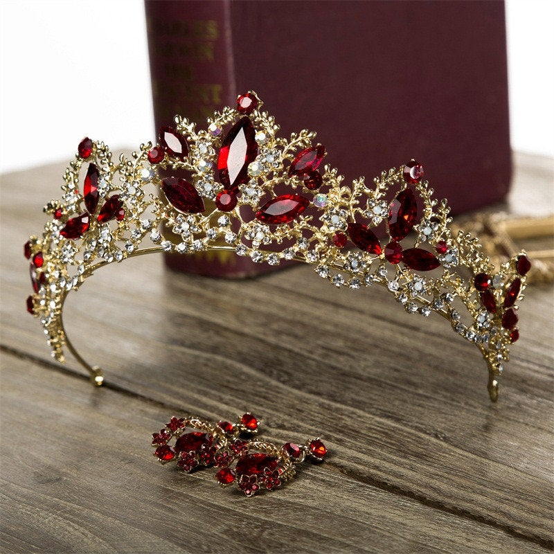 Bephora Handmade Luxury Wedding Crown Bride Tiaras & Crowns Fashion Gold Queen Crown Princess Headpiece Wedding Hair Jewelry Accessories