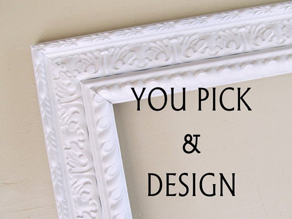 Fabric Covered Magnet Board Kitchen Chalkboard Wedding Sign Nursery Shabby Chic Chalk Magnetic Cork 16x20 - You Pick & Design