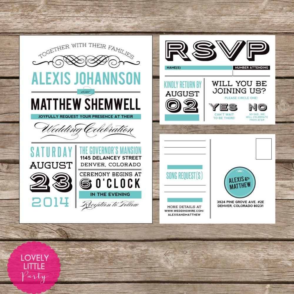 Alexis Collection Vintage Invitation & Rsvp Design - Diy Printable Lovely Little Party You Choose Color