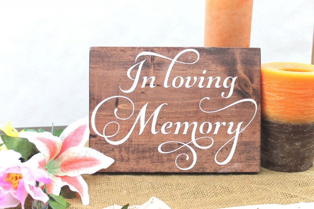 In Loving Memory Sign, Wedding Forever Our Hearts, Memorial Table, Remembrance Sign