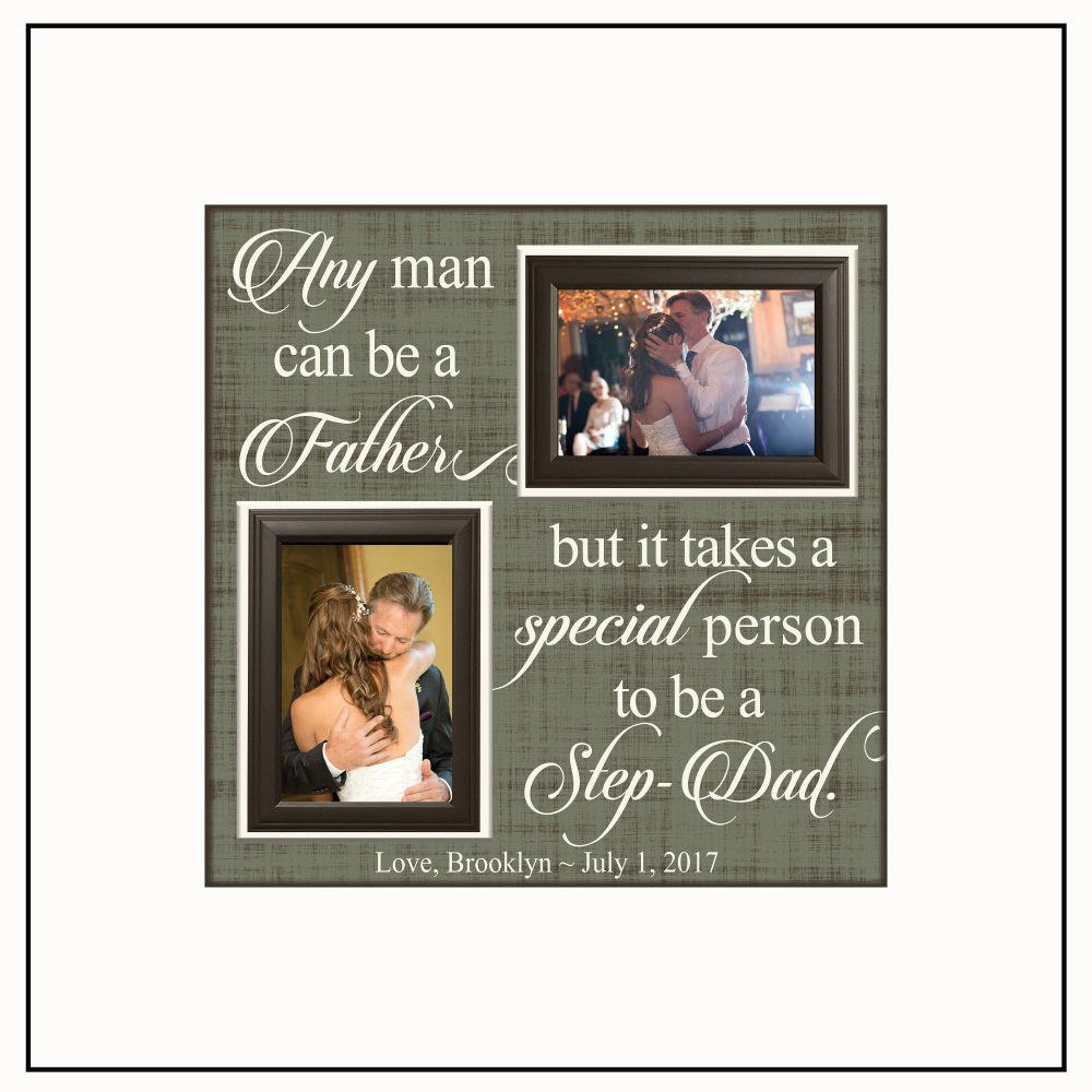 step Dad Gifts ~ Thank You Gift Wedding Personalized Picture Frame Father Of The Bride