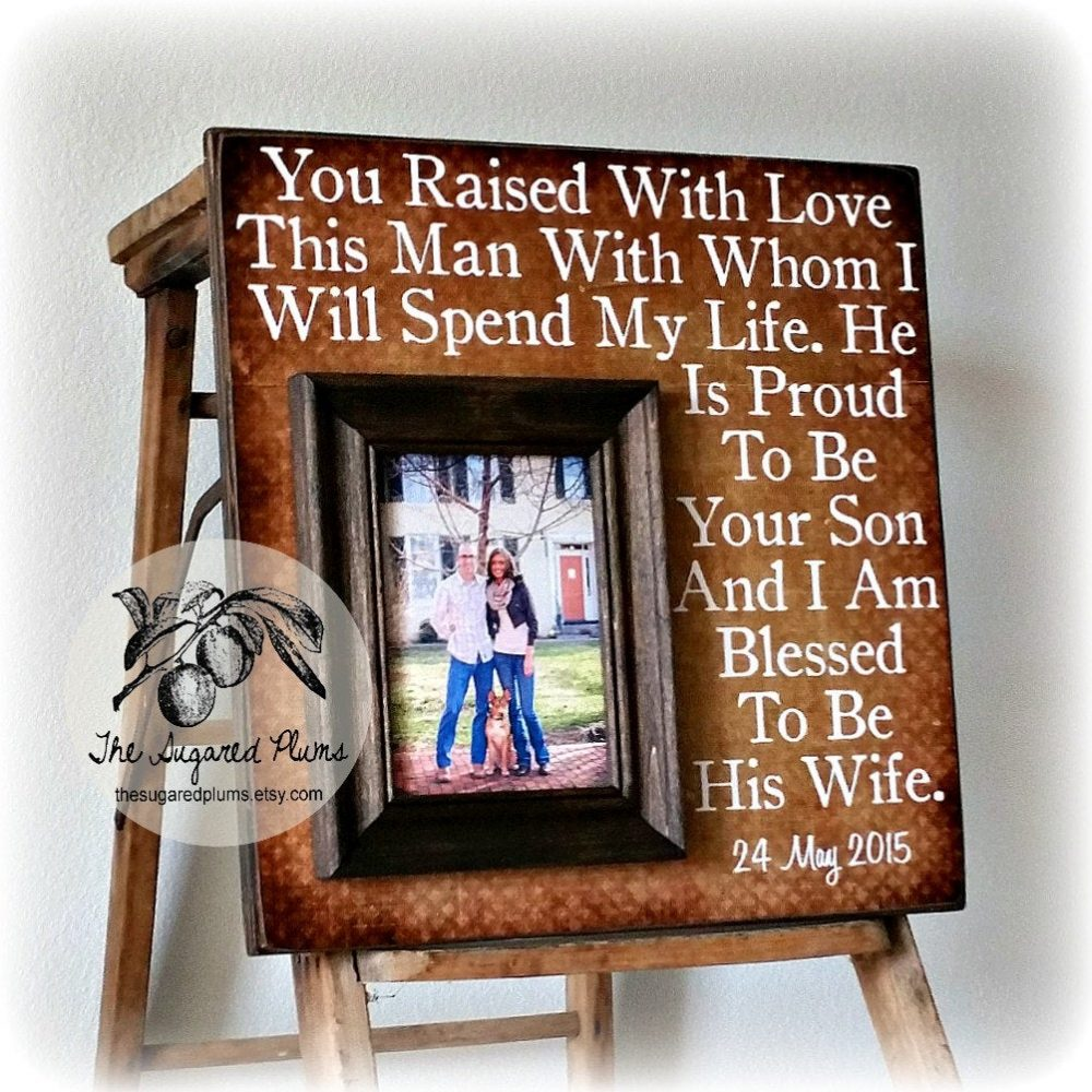Parents Of The Groom Gift, Mother Groom, Father Thank You Wedding, Personalized Picture Frame 16x16
