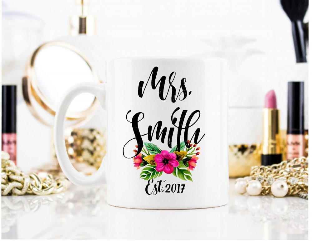 Custom Bride Mug, To Be Engagement Gift, Wedding Personalized Coffee