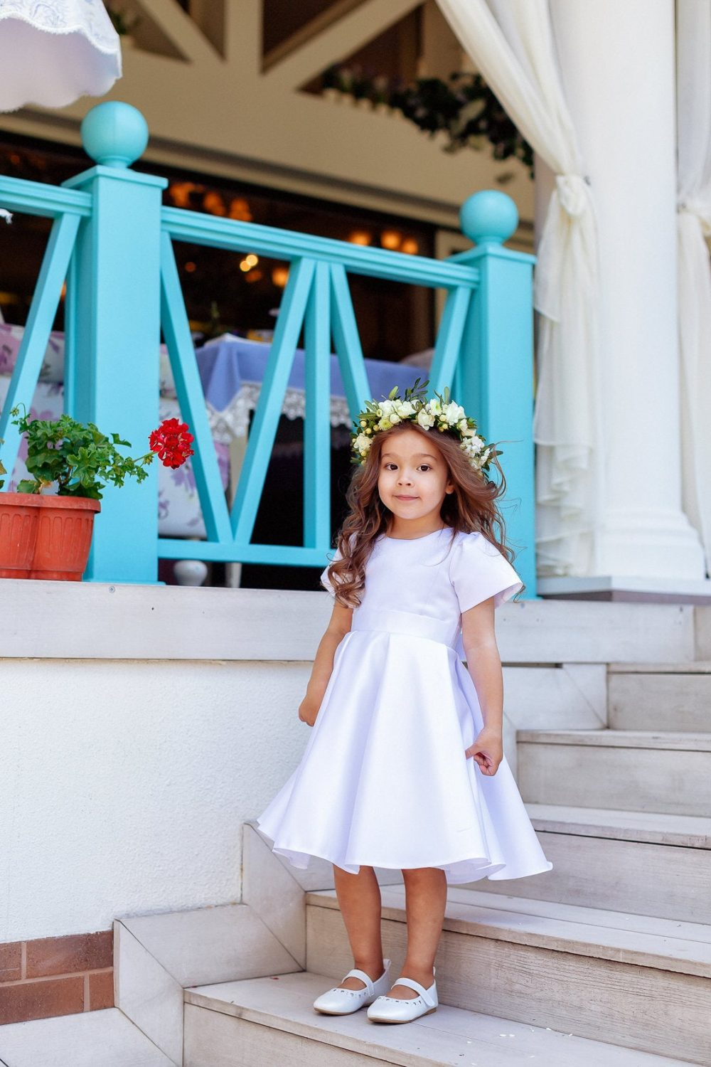 Classic Flower Girl Dress, Flower Dresses, Satin White Dress, Wedding Flower Girl Dress, Dress, Dress