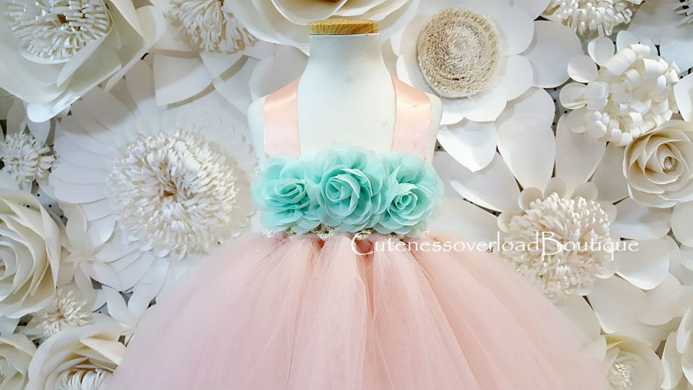 Blush Tutu Dress-Blush Wedding Flower Girl Dress-Flower Birthday Dress