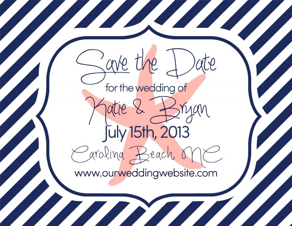 """Save The Dates - Beach Wedding Nautical Theme Starfish Large Magnets, 4"""" X 5"""" Date Magnets"""